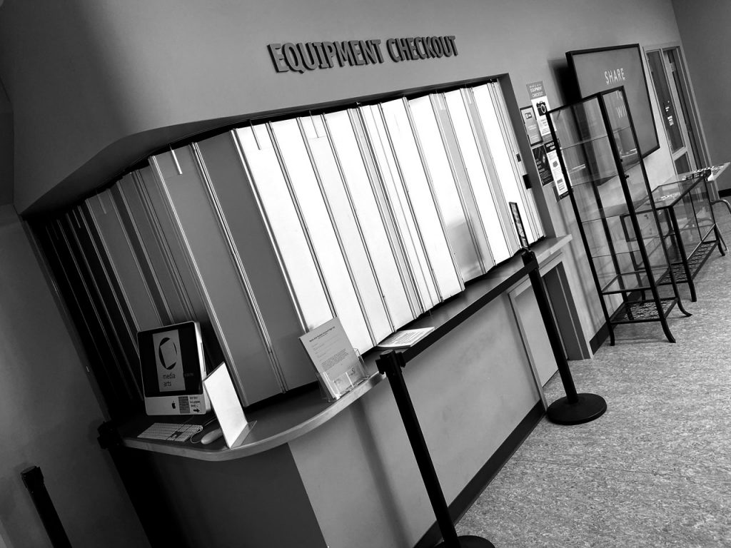 Closed equipment counter.
