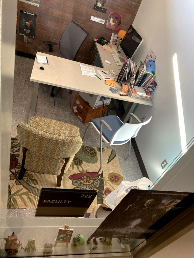 office with desk and chairs
